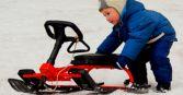 Зимний детский транспорт Тимка